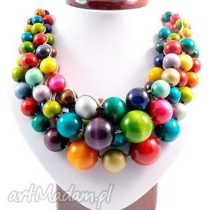 Naszyjnik Kolorowe szczęście, naszyjnik, korale, drewno