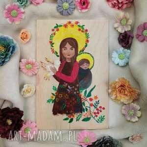 matka boska chustonosząca, obraz, ikona, boska, obraz na sklejce