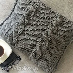 poduszka ze sznurka bawełnianego - poduszka, sznurek, manufaktura, ręcznie