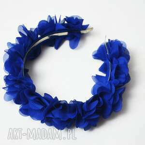 opaska chabrowa, chabrowy, opaska, niebieska, kwiaty