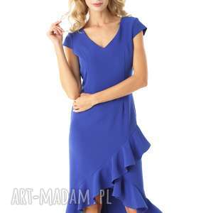 Sukienka z dłuższym tyłem naomi chabrowa 026 sukienki ella dora