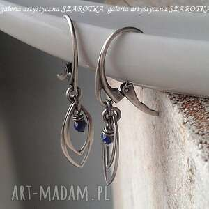 SZAROTKA! BLUE POINTS kolczyki z lapisu i srebra