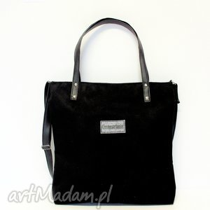 Shopper bag, shopper, czarna, modna, szyte