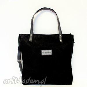 shopper bag, shopper, czarna, modna, szyte torebki, prezent na święta