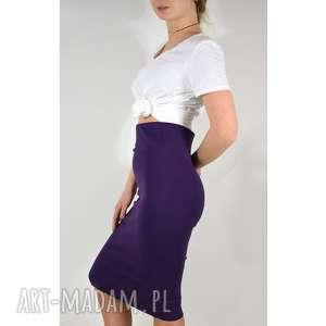 spódnice fioletowa spódnica tuba, spódnica, dzianina, dzianinowa