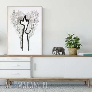 obraz ręcznie malowany 50 x 70 cm, minimalizm, abstrakcja , obrazy-ręcznie-malow