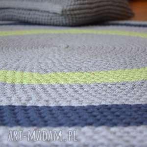 dywany dywan okrągły ze sznurka - trzy kolory 120 cm, dywan, szydełko, sznurek
