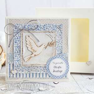 pamiątka chrztu świętego kartka oraz pudełeczko personalizowana treść