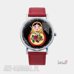 Prezent Zegarek z grafiką MATRIOSZKA, lalka, pamiątka, podróż, rosja, folk, prezent