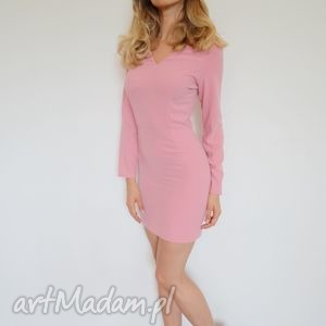 sukienki sukienka mini pastelowy róż, rozowy, sukienki, slubne, koktajlowe