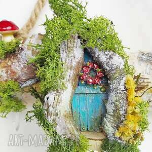 hand-made wieszaki wieszak w stylu holenderskim z kwarcem różowym. Kolekcja die magische türchen