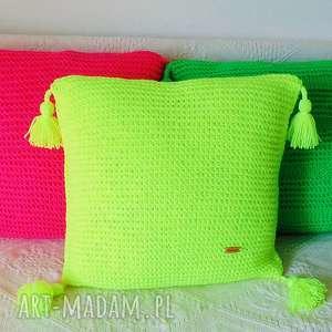 hand-made poduszki żółta neonowa poduszka