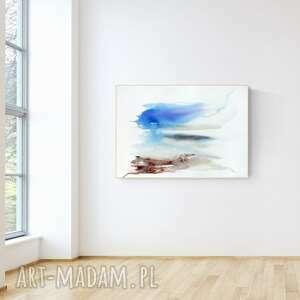 obraz ręcznie malowany 100 x 70 cm, nowoczesna abstrakcja, 2700072
