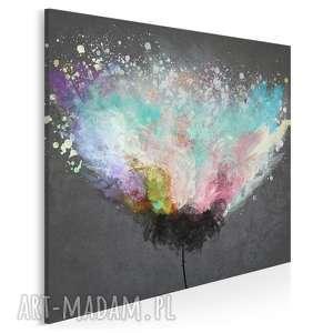 obraz na płótnie - artystyczne drzewo w kwadracie 80x80 cm 54004, abstrakcja