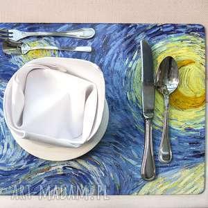 "Zestaw 4 podkładek na stół - Vincent van Gogh ""Gwiaździsta noc"", gogh, noc"