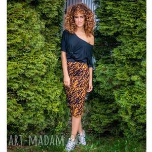 Ołówkowa spódnica - gold zebra spódnice milita nikonorov