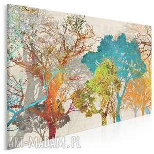 obraz na płótnie - drzewa kolory 120x80 cm (18101)
