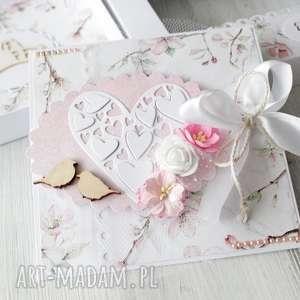 autorskie scrapbooking kartki kartka na ślub