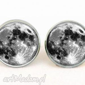 Pełnia Księżyca - Kolczyki sztyfty - ,kolczyki,sztyfty,wkrętki,księżyc,kosmos,galaxy,