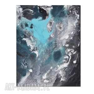 Acqua di Follia 2, abstrakcja, nowoczesny obraz ręcznie malowany, obraz,