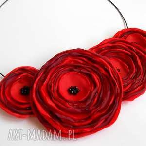 pomysł na upominek święta Kwiatowa kolia , kwiaty, kolia, naszyjnik, biżuteria