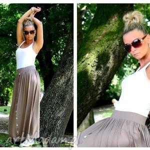 spódnica cappuccino - oversize oliolo sale, spódnica, maxi, długa