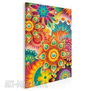 Obraz na płótnie - fraktale kolorowy barwny w pionie 50x70 cm