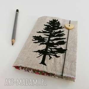 notes drzewo, len, notes, notesik, zeszycik, haft
