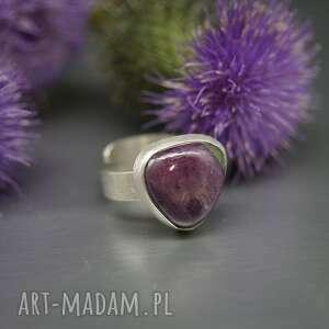 rubin z zoizytem pierścionek taiki, srebrny pierścionek, zoizyt