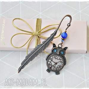 zakładka miedziana sowa, prezent dla nauczyciela, zakładka, prezent