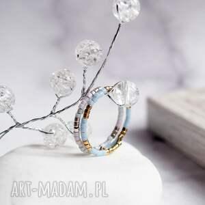 dwa pierścionki niebo, pierścionki, zestaw, regulowane modny