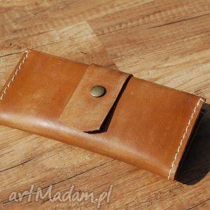 portfele skórzane brązowe etui na telefon z portfelem, etui, portfel, skóra