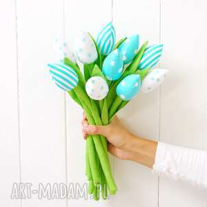 Tulipany bukiet, miętowe, tulipany, tulipan, kwiaty, kwiatki