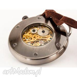 hand-made zegarki podróżnik w czasie ii (black)