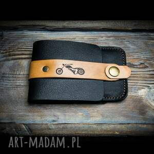 handmade portfele etui na karty w kolorze czarnym z możliwością personalizacji