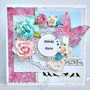 kwiaty dla młodych, kartka, ślub, ślubna, kwiaty