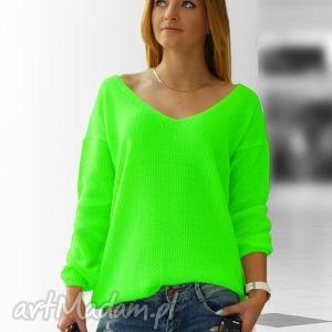 Sweterek w Serek Neonowe Kolory, swetry, neonowe, fuksja, serek, wiosenna, letnia