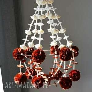 dekoracje dekoracja pająk, łapacz, pompon, folk, ludowy