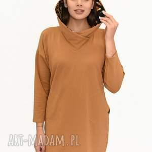 sukienki sukienka elizabeth karmel wzór, sukienki, kurtki zimowe, komplety