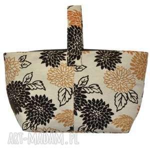 hand-made 13 -0012 wielobarwna torebka damska do ręki shopper bag / na zakupy