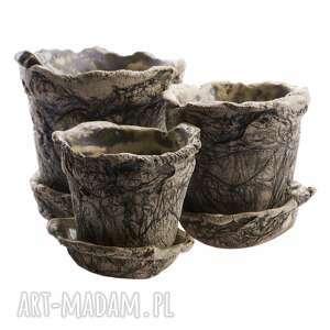 zestaw doniczek, ceramiczne doniczki, zestaw, komplet, prezent, ceramika
