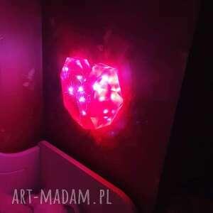 unikalny, lampka led - serce, lampka, lampa, dekoracyjna, żywica