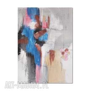 quarry /1/ abstrakcja, nowoczesny obraz ręcznie malowany, obraz, ręcznie, malowany