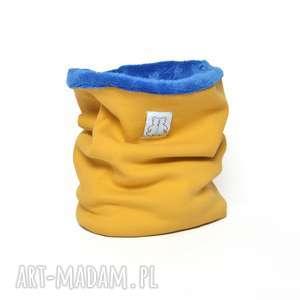 Miśkowy komin musztarda blue honsiumisiu komin, zimowy,