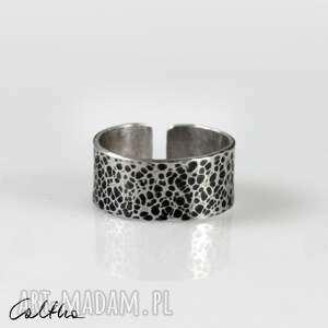 plamki - srebrna obrączka 200803-03, srebrny pierścionek, srbrnao brączkae