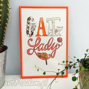 obrazek cat lady, cat, kot, kotek, obrazy dom
