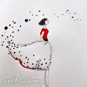 Praca akwarelą i piórkiem WYBIERAM PRZYSZŁOŚĆ artystki plastyka Adriany Laube