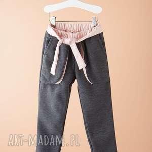 ubranka spodnie dsp01g, modn, grafitowe, stylowe, wygodne, dziewczęce