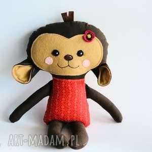 Małpka Hania 45 cm, małpka, jabłko, dziewczynka, roczek, maskotka, przytulanka