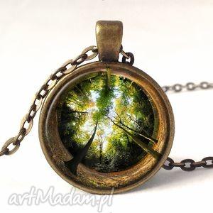 ręcznie wykonane naszyjniki las - medalion z łańcuszkiem